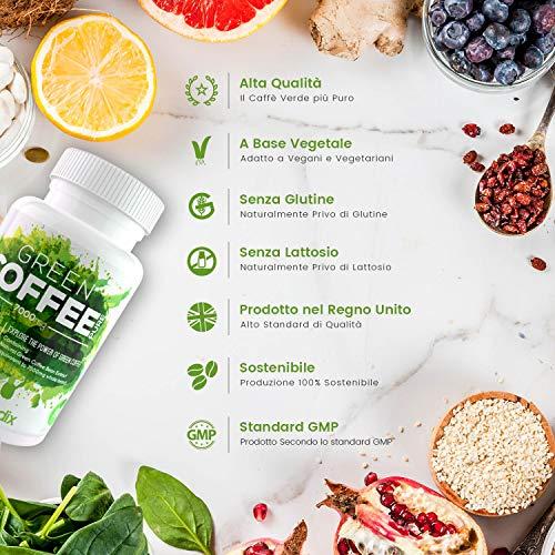 WeightWorld Green Coffee Puro 7000mg - Dimagrante Forte A Base di Caffè Verde - Brucia Grassi Formula Extra Concentrata con Acido Clorogenico - Integratore Perdita Peso - 1 mese 90 caps