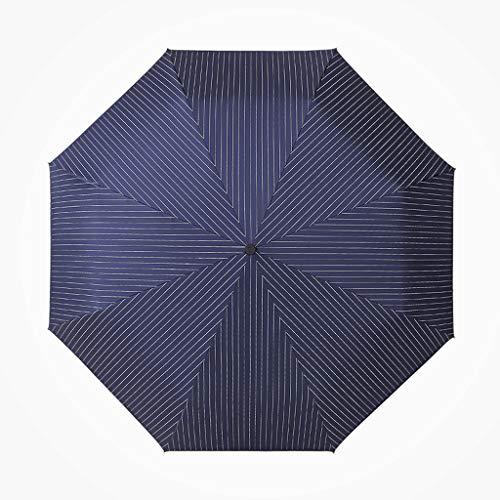 Regenschirm 400g Kreative Automatik Männer und Frauen Gestreiften Regenschirmfalten Erhöhen Verstärkung Wind und Regen Regenschirm (Color : Blue)