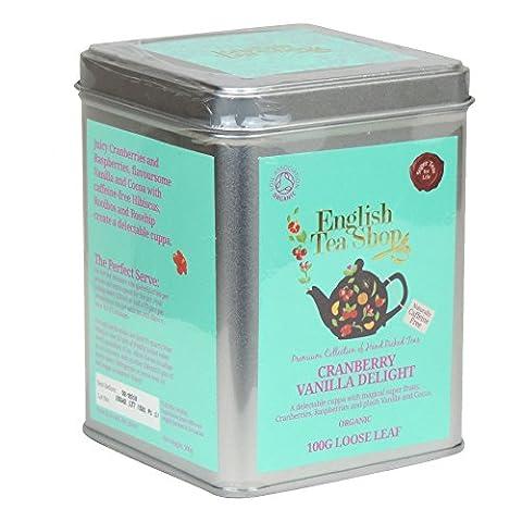 English Tea Shop–Cranberry Vanilla Delight–Loose Leaf Tea–100g (Case Of