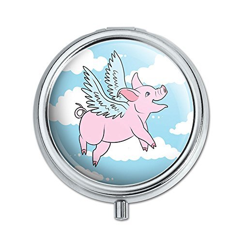 Flying Pig Pill Case Trinket Gift Box by Graphics and More -