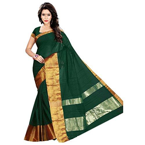 SAREES (Cotton Silk With Blouse Piece-Sari)