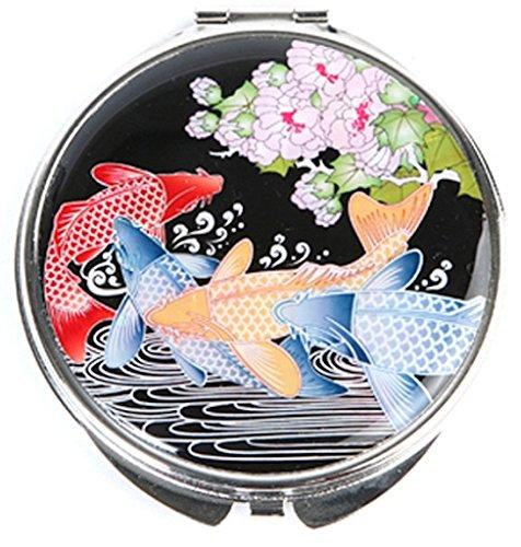 Miroir Compact, mère de perle cadeau carpes.
