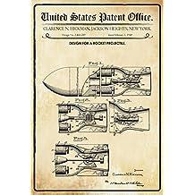 Design No 465.588 Wheeler New York 1891 Entwurf f/ür EIN Toilettenpapierrolle Design for A Toilet Paper Roll Blechschild Schatzmix United States Patent Office