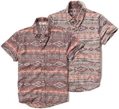 Hollister - Camisa casual - Button Down - Étnica - con botones - Manga corta - para hombre