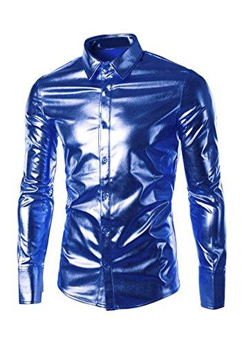 Oxford Woven Dress Shirt (Louis Rouse Herren Freizeit-Hemd weiß rot L Gr. L, blau)