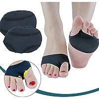XEMZ® - Cojín para el antepié, antidolor, plantillas para pies, protector de gel para los dedos de los pies, almohadillas de nailon, protector de media suela de danza, bola metatarsal de silicona para el pie de las almohadillas, para el dolor de pies y ballet, danza de ballet