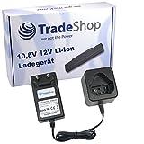 Trade-Shop 10,8V 12V Li-Ion Akku Ladegerät Ladestation ersetzt AEG LL1230 für AEG 3520 3526 4932 584932 954932 L1215P L1215R R86048 L1215 L1220 L1230 L1240 BS12C BLL12C BS12C2 BSS12C BWS12 BWS12CBWS Ridgid Jobmax R8223400