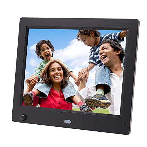 "Digitaler Fotorahmen 8\""elektronischer USB SD/SD HC 1024 * 768P Digitaler Fotorahmen mit Bewegungssensor und Fernbedienung,B"