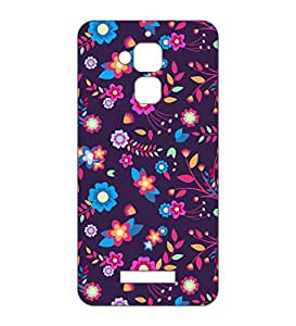 Happoz ASUS Zenfone 3 Max (ZC520TL) Cases Back Cover Mobile Pouches Patterns Floral Flowers Hard Plastic Graphic Armour Fancy Slim Graffiti Imported Cute Colurful Stylish Boys Premium Printed Designer Cartoon Girl 3D Funky Shell Z038
