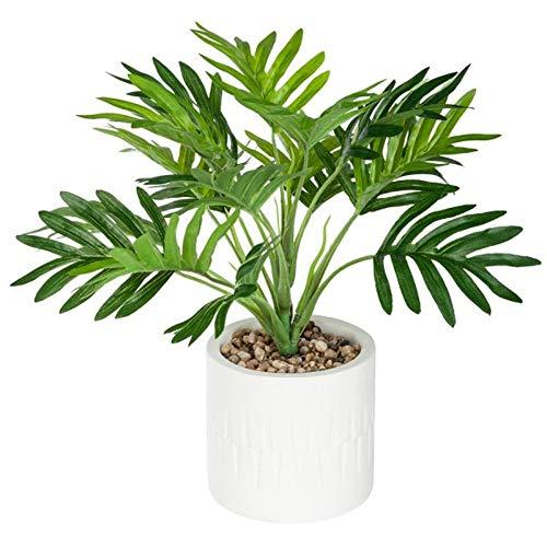 Paris Prix - Plante Artificielle en Pot Palmier 28cm Vert