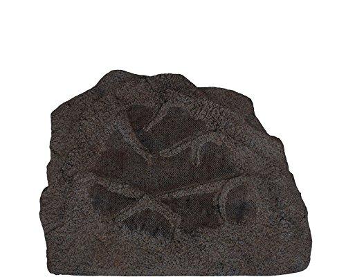 Sonance Rock 83 Stein Außenlautsprecher – hochwertiger Gartenlautsprecher in Steinoptik – Steinlautsprecher für Musik im Garten (Braun)