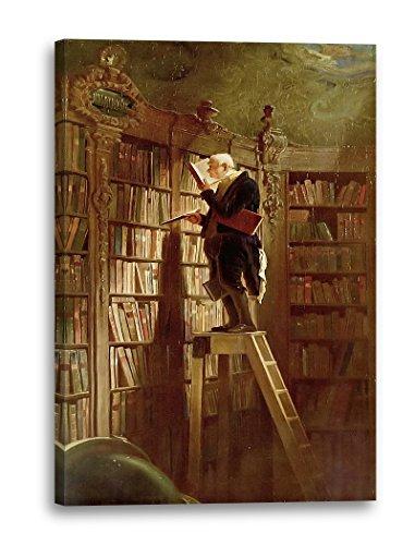 Printed Paintings Leinwand (40x60cm): Carl Spitzweg - der Bücherwurm