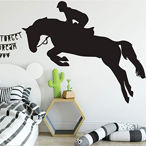 YuanMinglu Kreative Tier Pferd wandaufkleber Wohnzimmer Schlafzimmer Dekoration Home DIY wandaufkleber schwarz M 30 cm X 24 cm