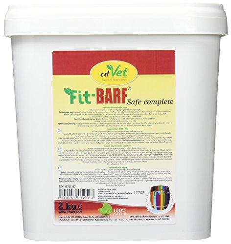 cdVet Naturprodukte Fit-BARF Safe-Complete 2 kg - Hund - Gemüse-Kräuter Kombination - Absicherung der Ernährung - BARF-Rationen - Fütterungsmängel - Vitamine -Mineralstoffe - Rohfütterung - BARFEN - -