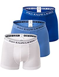 Ralph Lauren Polo Men Shorts 3-Pack, Classic Trunk - White/Blue