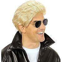 NET TOYS Parrucca uomo anni 70 80 bionda capelli finti travestimento  carnevale festa in maschera cb5935f219a8