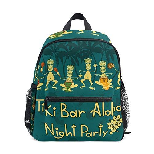Rucksack Tiki Bar Night Party Mini Kinder Vorschule Kindergarten Kleinkind Tasche