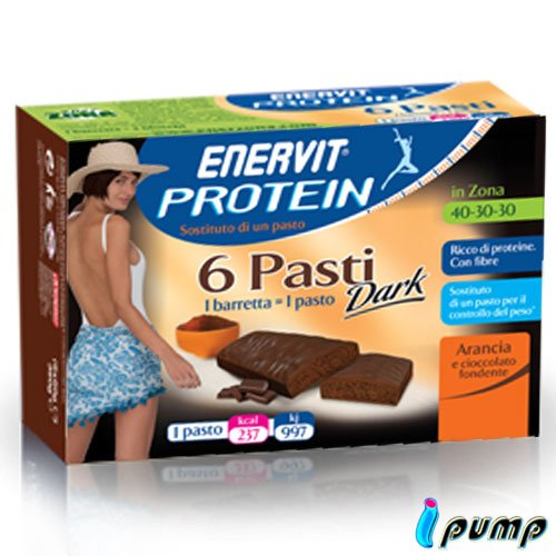 enerZONA bar protein Dark 6 pasti arancia cioccolato fondente - 51fUxc9qIrL