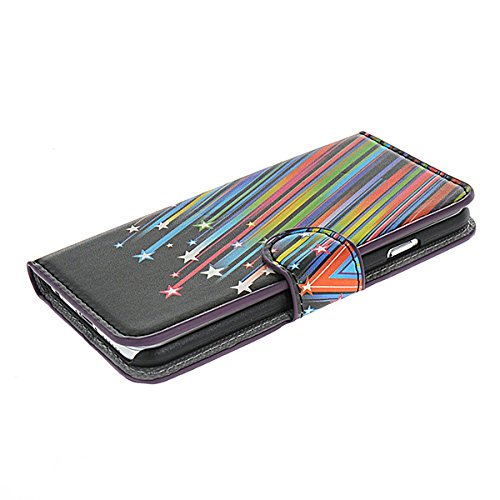 iPhone 6 Schutzhülle Hülle,COOLKE [001] Folio Ledertasche für Apple iPhone 6 PU Leder Tasche Brieftasche Case Cover 005