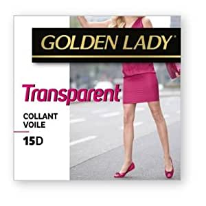 Golden lady - collant voile transparent ARGENT T2