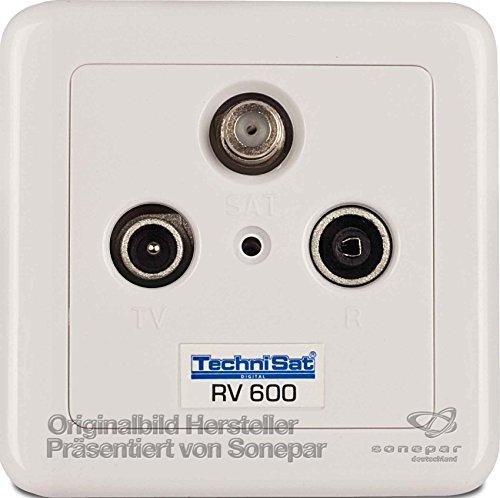 TechniSat TECHNIPRO RV 600-10 Durchgangsdose Aufputz 10 dB Weiß