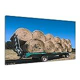 Stroh Ballen Anhänger Landwirtschaft Reifen Leinwand Poster Druck Bild uu0561 60x40