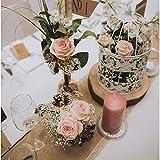 Chemin de jute, de 20mètres rôle., avec pointe, Chemin de table Style vintage pour mariage