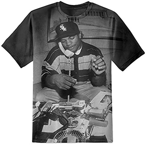 DPX-1 EASY - 63 NWA Printed T Shirt Rap Hip Hop Eminem Drake Compton Dre (Small)