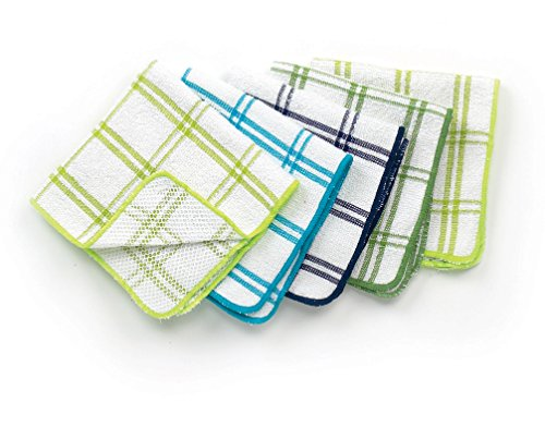 ritz-cotton-12-by-12-inch-kitchen-dish-cloth-with-poly-scour-side-blue-green-5-pack