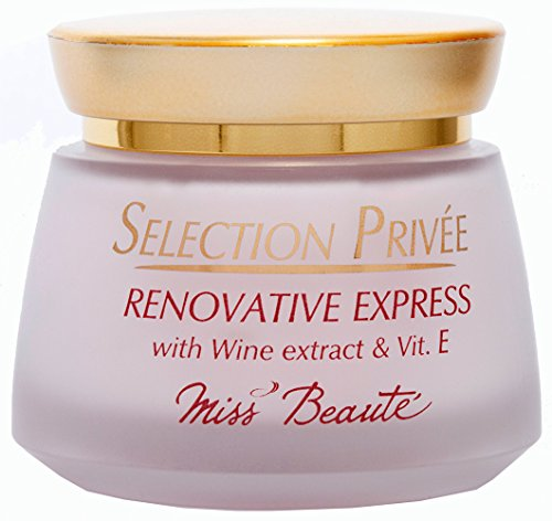 HUGE SALE!!! 40% OFF to clear stock. RENOVATIVE EXPRESS by MiSS BEAUTÉ, a Superior Quality Nourishing, Revitalising and Restoring Cream. Light and Gentle with Immediate Effect. Perfect for Mature Facial Skin. No Advertising...You pay only for Rich Amounts of Natural Nutrients in an Innovative Formula Created by an EU company with 35 years Experience in designing and running Medical Tests. 50 ml glass jar. GREAT VALUE as with all MiSS BEAUTE creations! HURRY! DON'T LOSE OUT!