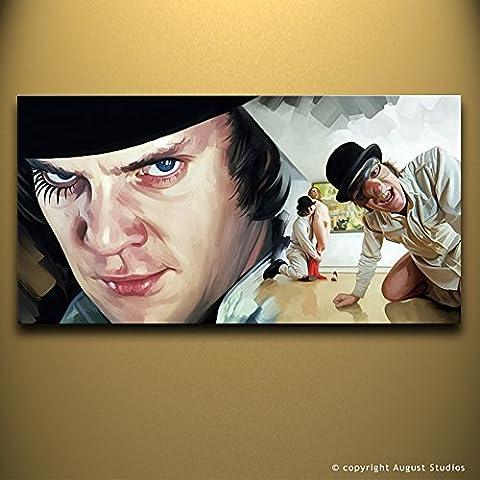 A Clockwork Orange Artwork Artista firmato pittura poster Stampa Su Tela # 1, Tela, Arancione, 30