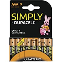 Duracell - Pile Alcaline - AAA x 8 - Simply (LR03)