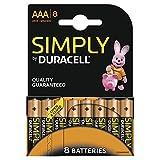 Duracell - Pile Alcaline - AAA x 8 - Simply (LR03)...