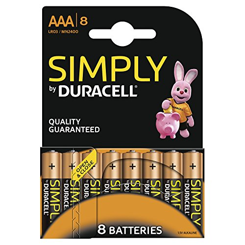 Duracell Simply Batterie Alcaline AAA 8 pezzi