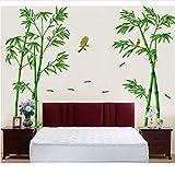 Foresta Verde Mobile Di Bambù Profonda Pasta Murale Cinese Fai Da Te Decorazione Domestica Decorazione Soggiorno 295 X 165