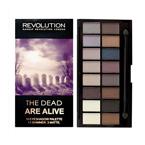 Make-up Revolution, die The Dead Alive Eye palette- 16hochpigmentierter Lidschatten Shades