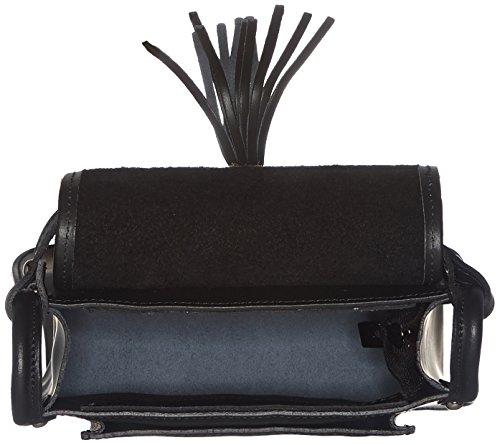 Chicca Borse Damen 8640 Schultertasche, 23x20x8 Cm Nero (black)