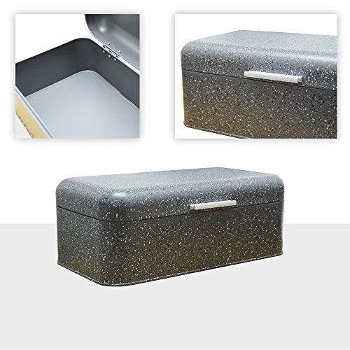 XL Brotkasten Brotbox Metall Brotbehälter mit Deckel Metalldeckel Brot Aufbe