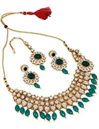 Cardinal Kundan Traditional Latest Design Party Wear With Earring And Maang Tika For Women/Girls