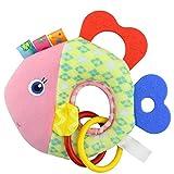 Baby Spielzeug, 12shage Activity-Spieltier Teddy – zum Aufhängen mit Spiegel & Ringen zum Beißen, Greifen und Geräusche erzeugen – Für Babys und Kleinkinder ab 0+ Monaten (B)