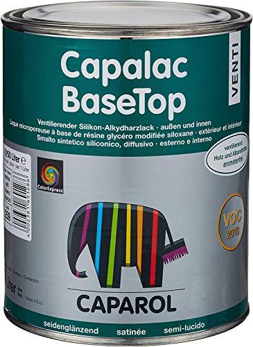 Caparol Capalac BaseTop Venti Silikon-Alkydharzlack innen/außen Seidenglänzend Weiß 0,5 L