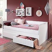 Preisvergleich für Relita EB1585117 Funktionsbett, Holzwerkstoff, weiß, 95 x 205 x 90 cm