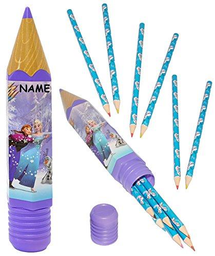 Stifte Set Buntstifte - mit Stiftebox - ' Disney die Eiskönigin - Frozen ' - incl. Name - Buntstift...