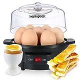 Homgeek Cuiseur à œufs Électrique, Cuit-œuf, Pour 7 œufs, Noir