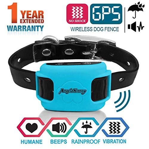 AngelaKerry Valla y Collares antifuga para Perros GPS/área Grande de la Cobertura...