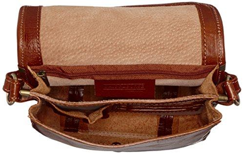 CTM Borsa Donna da Lavoro, 22.5x26x7cm, Vera Pelle 100% Made in Italy Cuoio