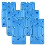 NEMT - 6 confezioni di mattonelle di ghiaccio piatte da 400 ml, 25 x 14 x 1,4 cm