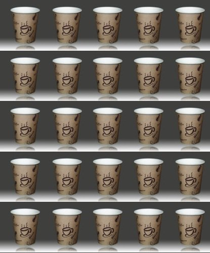 1000 x Coffee-to-go Becher 0,2 Liter # edles Design # Pappbecher 200ml # Papierbecher aus 320er Papier # für Party, Kiosk, Tankstelle oder einfach für zuhause # Einwegbecher zum Mitnehmen # cappuccino latte macchiato Milchkaffee café (Getränkebecher Papier)
