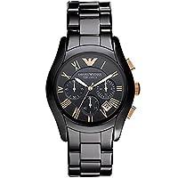 Men's Emporio Armani AR1410 Zwart Keramisch Quartz Horloge