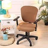 iShine Einfarbig Bürostuhl Bezug Stuhlhussen Abdeckung Stuhlbezug Abnehmbarer Federnden Stuhlbezug für Bürostuhl Drehstuhl Sessel Computer Stuhl Armlehnen Stuhl-1 Stück
